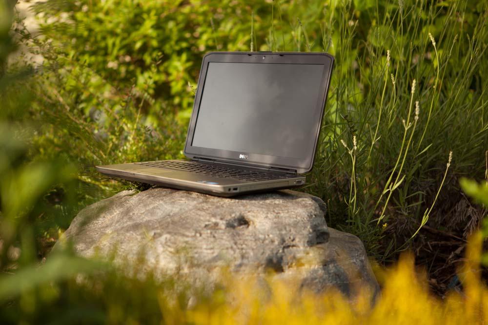 Seminarhaus Gruber Garten Laptop