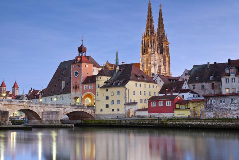 Stadtbild Regensburg, Dom, Donau