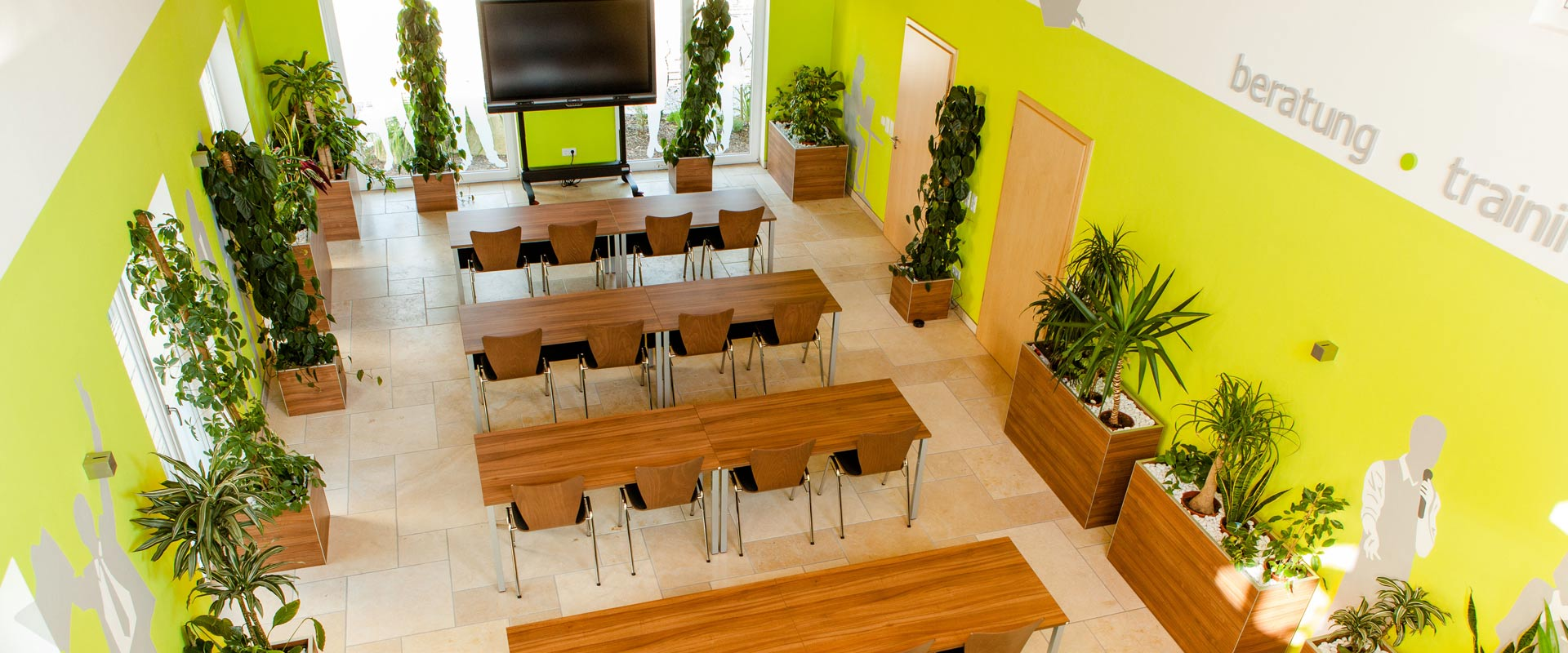 Seminarhaus Grubers Schulungsbestuhlung
